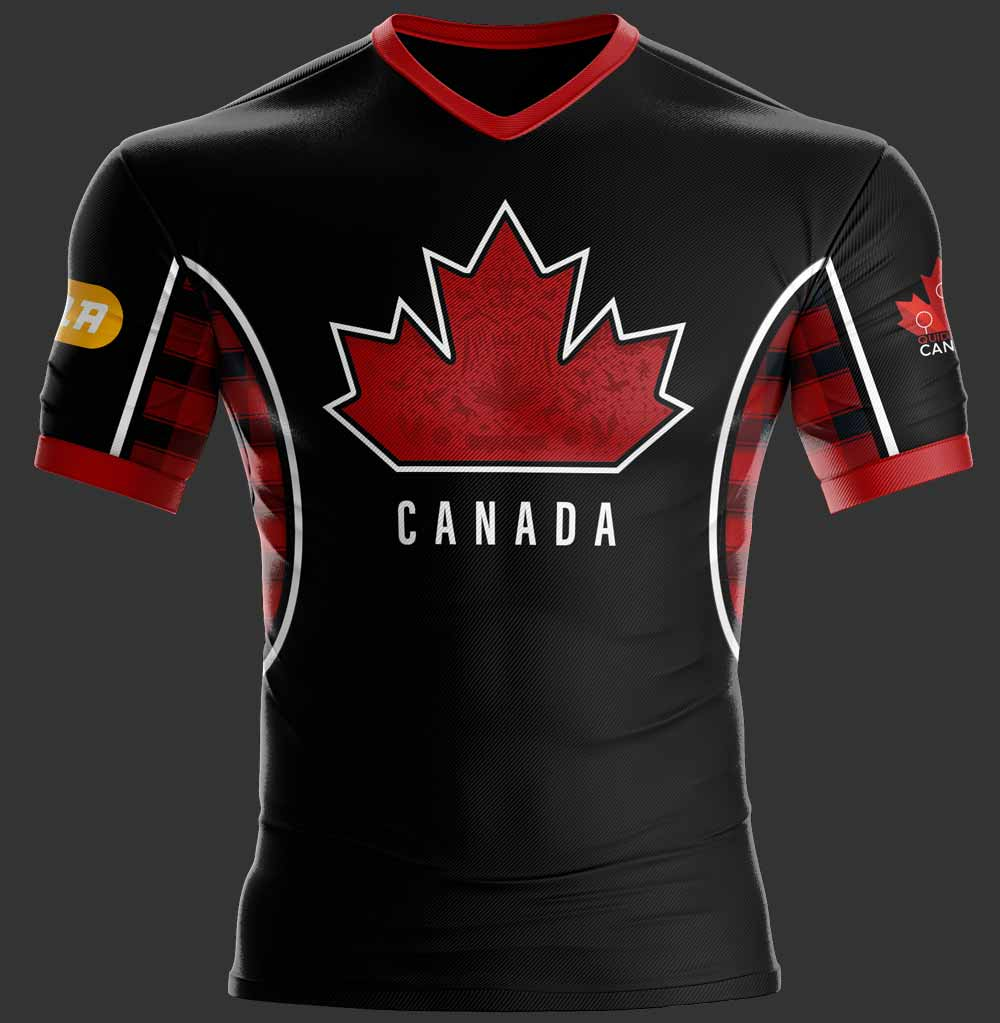 A mock up of the 2018 Team Canada dark jersey.