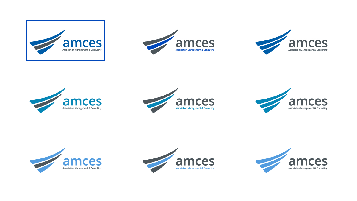 Final logo concept in different colour variants.